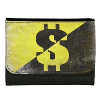Leather Wallet with Cool Anarcho-Capitalist Flag