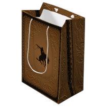 Leather Western Wild West Cowboy Birthday Party Medium Gift Bag