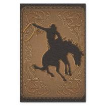 Leather Western Wild West Cowboy Birthday Party Tissue Paper
