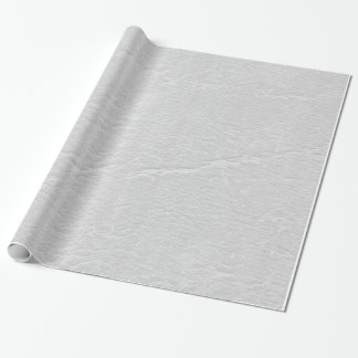 Leather White Wrapping Paper