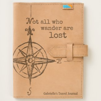 Leather Who Wander Compass Travel Journal
