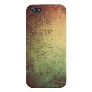Leather with Metallic Sheen in Orange and Green Cover For iPhone SE/5/5s