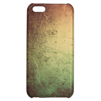 Leather with Metallic Sheen in Orange and Green iPhone 5C Cover