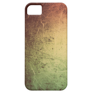 Leather with Metallic Sheen in Orange and Green iPhone SE/5/5s Case