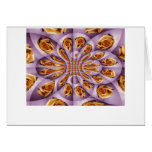 Leather Yellow and purple rose Pattern Greeting Card