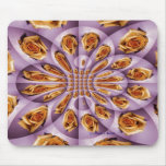 Leather Yellow and purple rose Pattern Mousepad