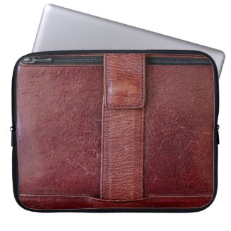 Leather Zipped Pocket Effect Neoprene Laptop Cover electronicsbag