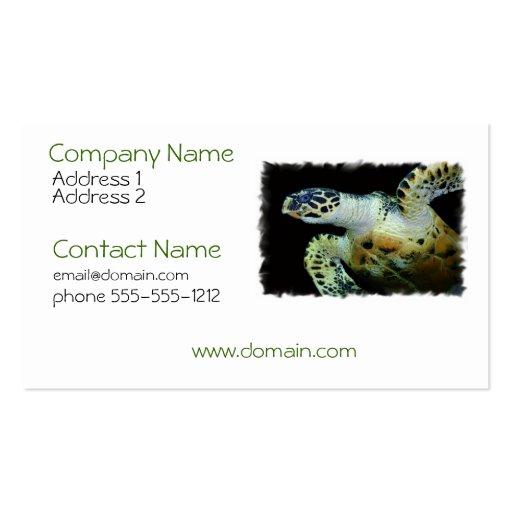 Leatherback Sea Turtle Business Card