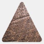 LeatherFaced 3 Pegatina Triangular