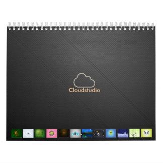 LeatherHoles-Llano, calendario, logotipo, Calendarios De Pared