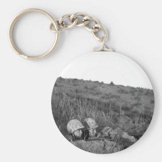 Leatherneck machine gun crew_War image Keychain