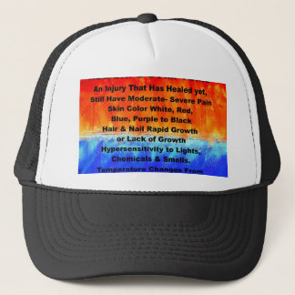 Leather's Burning Flames & Freezing Ice Storms 288 Trucker Hat