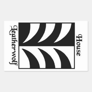 Leatherwolf Household Rectangular Sticker