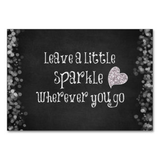 Leave a Little Sparkle Wherever You Go Quote Card