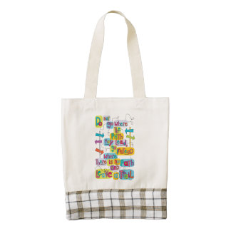 Leave a Trail Inspirational Quote Tote