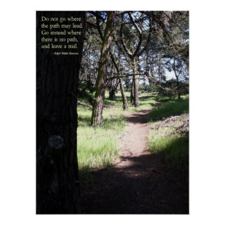 Leave a Trail Posters