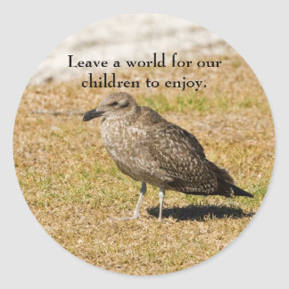 Leave a world for our children sticker
