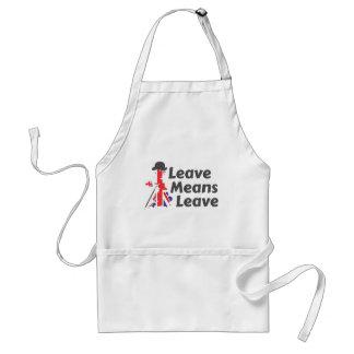 leave adult apron
