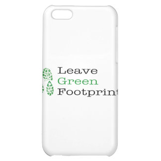 Leave Green Footprints Cover For iPhone 5C