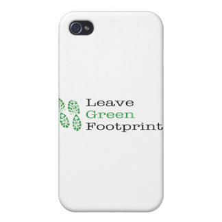 Leave Green Footprints iPhone 4 Cover