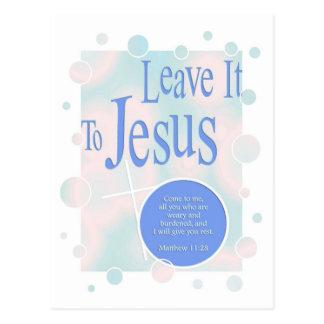 Leave it to Jesus Postcard
