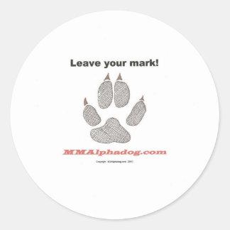 leave mark classic round sticker