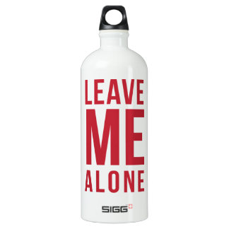 Leave Me Alone Red Aluminum Water Bottle