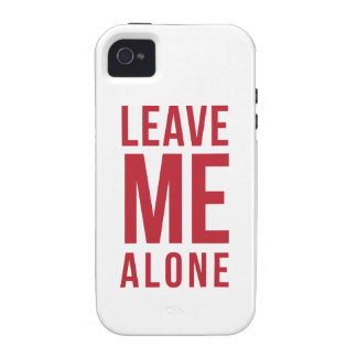 Leave Me Alone Red iPhone 4/4S Covers
