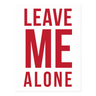 Leave Me Alone Red Postcard