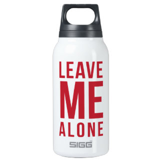 Leave Me Alone Red Thermos Bottle