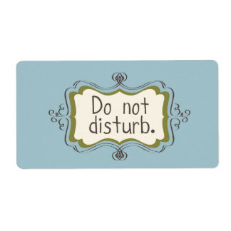 LEAVE ME ALONE sheet of stickers Shipping Label