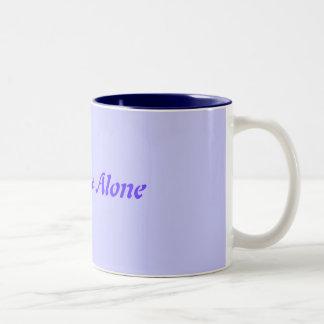 Leave me Alone Two-Tone Coffee Mug