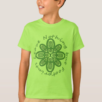 Leave Nothing But Footprints Green Boot T-Shirt