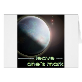 leave one's mark 2 card