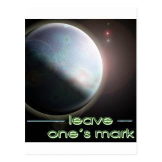 leave one's mark 2 postcard