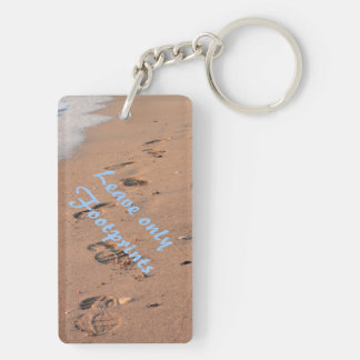Leave Only Footprints Keychain