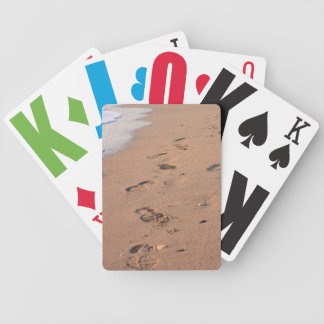 Leave Only Footprints Bicycle Poker Deck