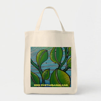 Leave Print on Organic Grocery Tote Canvas Bag