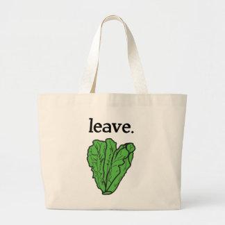 leave. (romaine lettuce) large tote bag