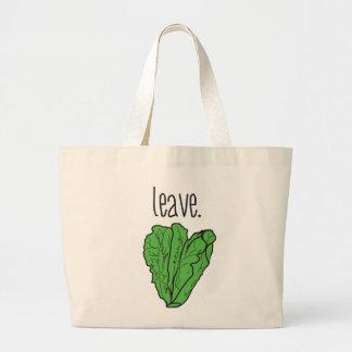 leave (romaine lettuce) large tote bag