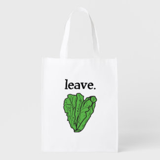 leave. (romaine lettuce) reusable grocery bag