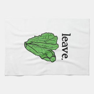 leave. (romaine lettuce) towel