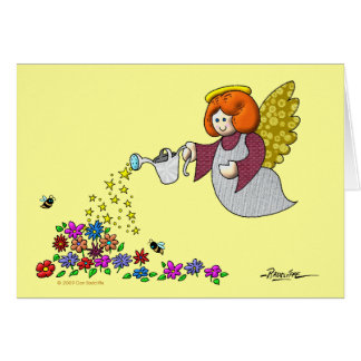 Leave Room In Your Garden For The Angels To Dance Greeting Card