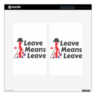 leave skin for kindle fire