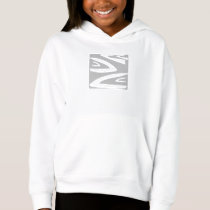 LEAVE STRIP WHITE PULLOVER HOODIE