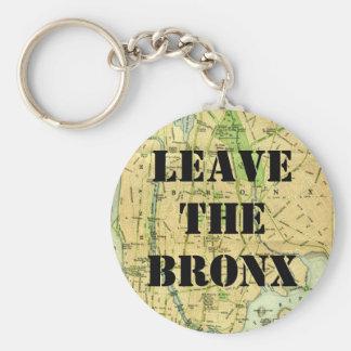LEAVE THE BRONX! BASIC ROUND BUTTON KEYCHAIN