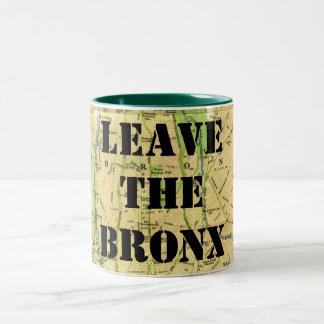 LEAVE THE BRONX! Two-Tone COFFEE MUG