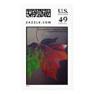 Leave the Past (Falling Autumn Leaf) Postage Stamp
