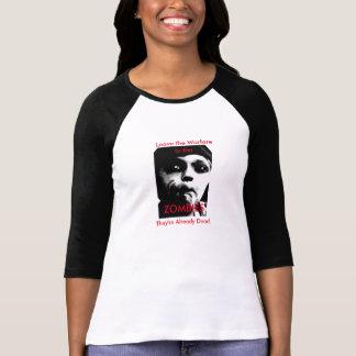 Leave Warfare Zombie Political Women's Raglan T-Shirt