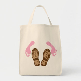 leave your boots on! tote bag